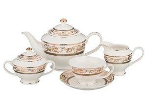 Чайный сервиз 389-327 на 6 персон 15 пр. 1000, 200 мл