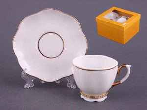 Кофейный набор 55-2304 на 1 персону 2 предмета, со стразами, 100 мл