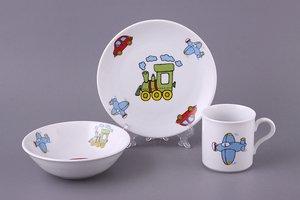 Десткий набор 655-201 тарелка, миска, кружка 19/16 см 250 мл