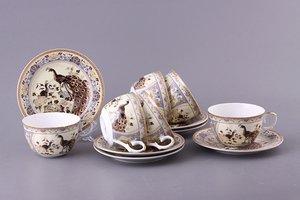 Чайный набор 69-1764 на 6 персон 12 предметов 250 мл