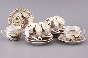 Кофейный набор 69-1774 на 6 персон 12 пр.100 мл