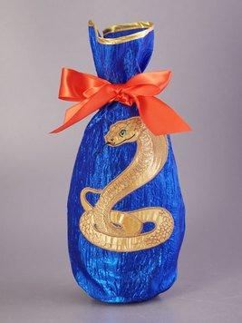 Чехол для бутылки 703-610-50 Змея 17*37 см