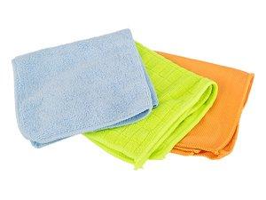 Комплект тряпок для уборки 705-064, 3 шт, микрофибра, 30*30 см