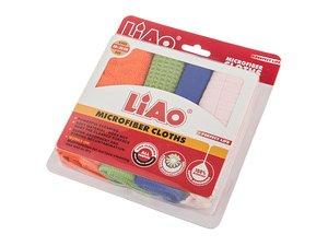 Комплект тряпок для уборки 705-065, 4 шт, микрофибра, 30*30 см