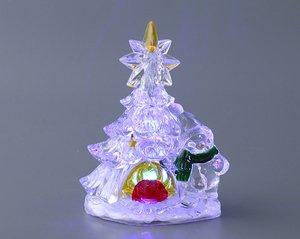 Елочка декоративная 786-104 с подсветкой 14.5 см