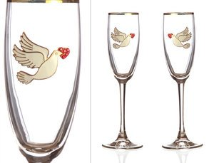 Набор бокалов для шампанского 802-510061 из 2 шт. 170 мл.
