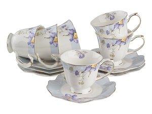 Чайный набор 85-1355 на 6 персон 12 пр. 250 мл