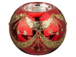 Подсвечник 862-051 цвет: красный, 8 см высота 7 см
