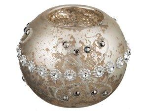 Подсвечник 862-052 цвет: серебро антик, 8 см высота 7 см