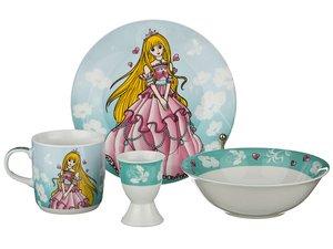 Наборы посуды 87-031 на 1 персону 4пр.: миска,тарелка,кружка 200 мл,подставка под яйцо
