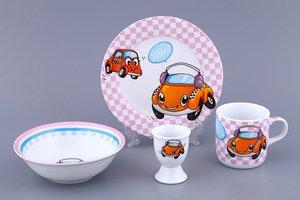 Набор посуды дет. 87-057 Машинки 4 пр.