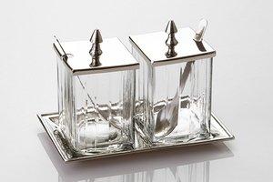 Набор для специй 871-015 2 пр.на подставке стекло-латунь