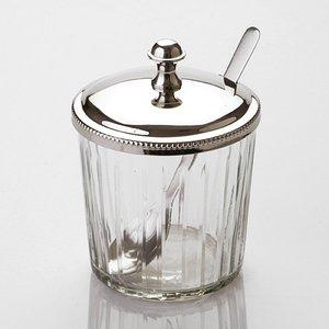 Банка для меда 871-020 стекло-латунь высота 13 см