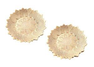Комплект 877-166 из 2 шт конфетниц латунь диаметр 12,5 см.