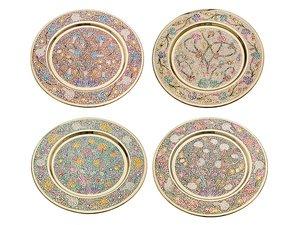 Тарелка декоративная 877-221, диаметр 19 см 4 вида в ассорт.