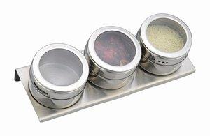 Набор для специй 912-005, 3 предмета на магнитах, метал. подставка