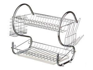 Подставка под посуду 917-007 и пластиковый поддон 40*24.5*38 см