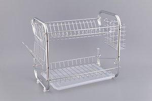 Подставка под посуду 917-008 настольная+пластиковый поддон 40*24.5*36 см