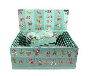 Коробка подарочная 920-140/11 Сова прямоугольная 23*15*8 см
