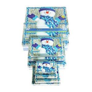 Коробка подар. 973-973 Снеговик 8.5*5.5*2.5 см