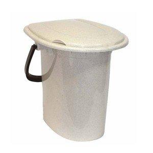 Ведро-туалет М2459БМ 16л бежевый мрамор