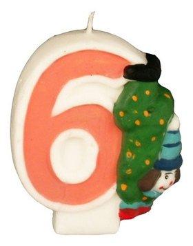 Свеча в торт 19416 Клоун  6