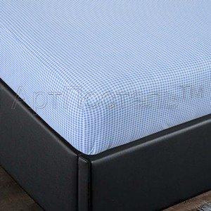 Клетка простыня на резинке в кроватку Артпостель