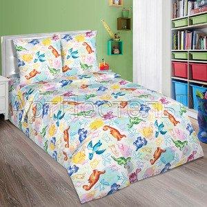 Детское постельное белье из поплина Динозаврики Артпостель