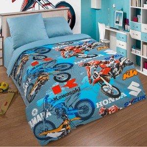 Детское постельное белье из поплина Мотокрос Артпостель