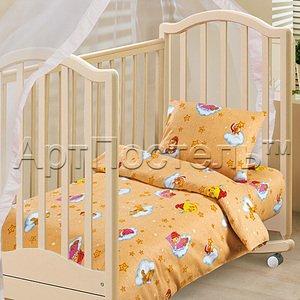 Облачко желтый детское постельное белье Артпостель бязь
