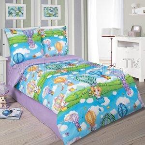 Детское постельное белье из поплина Путешествие Артпостель