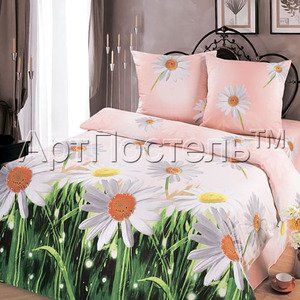 Ромашки постельное белье бязь премиум Артпостель