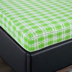 Шотландка наволочки, простыня на резинке в кроватку Артпостель