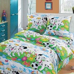 Далматинцы 1,5 спальное постельное белье Артпостелька