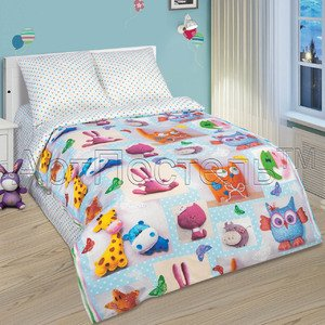 Детское постельное белье из поплина Плюшевый мир